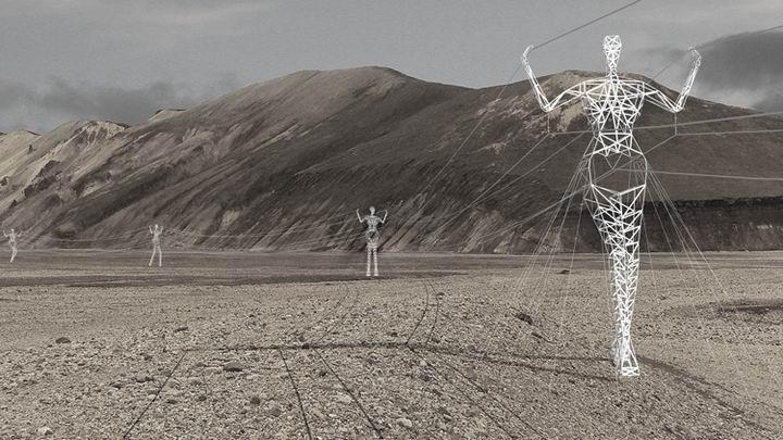 冰岛将高压电塔变身景观雕塑